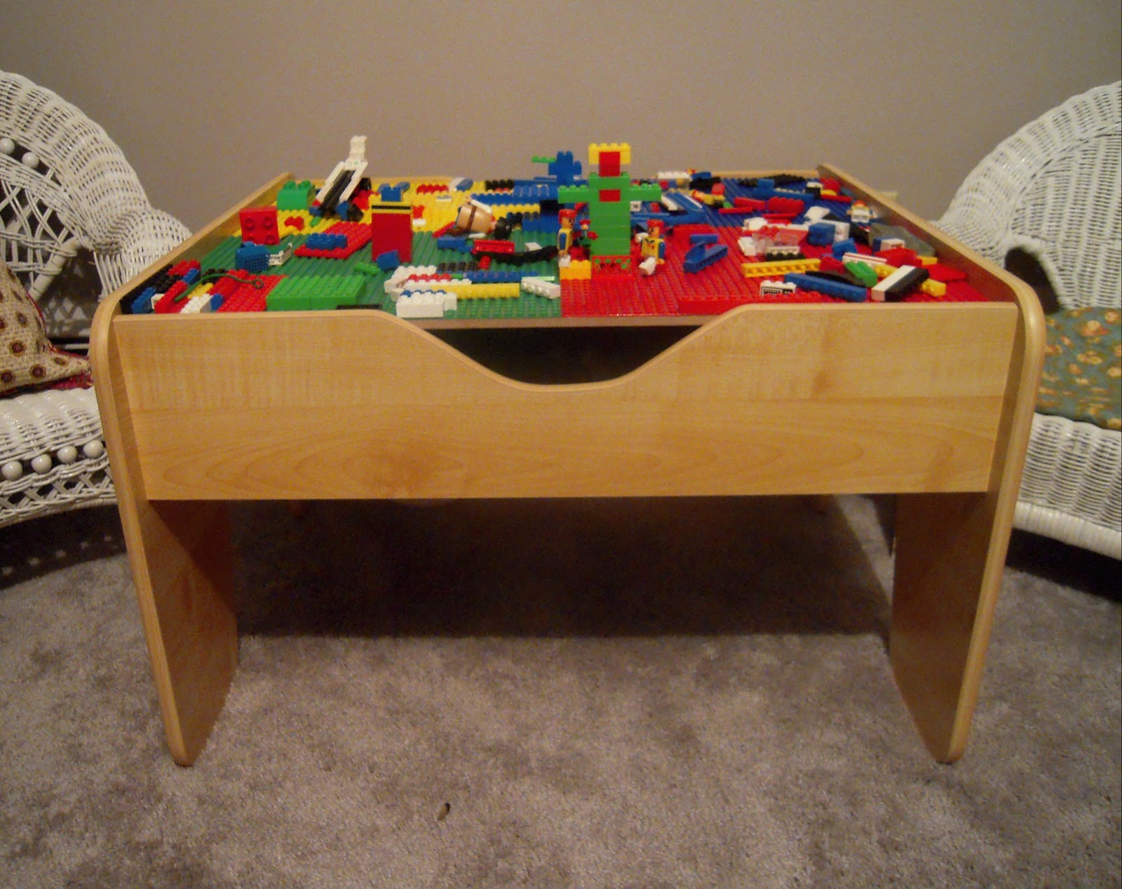 Lego Activity Table- Knowledge Games for Enhancing Brainpower